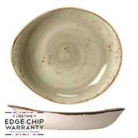 "Steelite Craft Green Shallow Freestyle Bowl 11"" / 28cm"