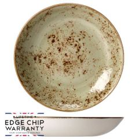 "Steelite Craft Green Coupe Bowl 10"" / 25.25cm"