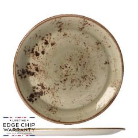 "Steelite Craft Green Coupe Plate 9"" / 23cm"