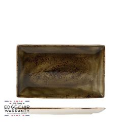 "Steelite Craft Brown Rectangle One Plate 10.625x6.5"" / 27x16.75cm"