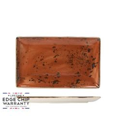 "Steelite Craft Terracotta Rectangle One Plate 10.625x6.5"" / 27x16.75cm"
