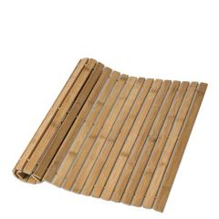 Bamboo Folding Duck Board Natural Bath Mat 60x40cm