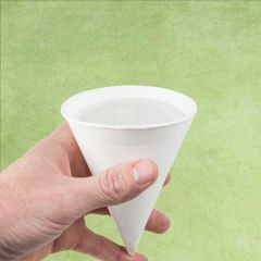 White Compostable Paper Cone Cup 4oz / 11cl