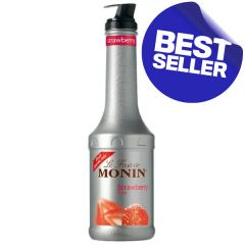 Monin Strawberry Fruit Puree 1Ltr