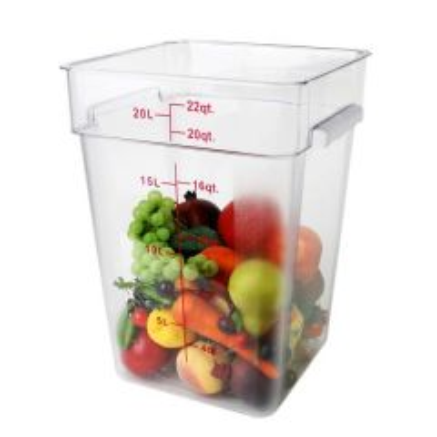 Polycarbonate Large Square Food Storage Container 20.8Ltr / 22qt