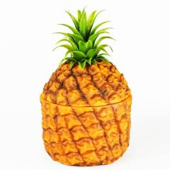 Retro Plastic Pineapple Ice Bucket with Removable Glass Liner 1.5Ltr