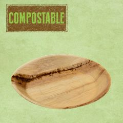 """Palm Leaf Compostable Round Plate 9.5"""" / 24cm"""