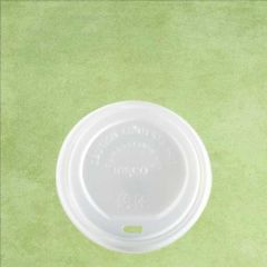 CPLA Compostable White Lid to Fit 12oz/34cl & 16oz/45cl Hot Cup
