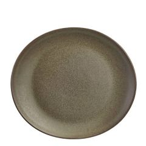 "Antigo Terra Stoneware Oval Plate 9.75x8.5"" / 25x22cm"