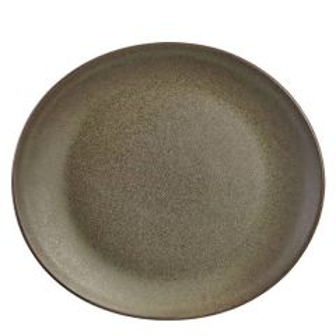 "Antigo Terra Stoneware Oval Plate 11.5x10.25"" / 29.5x26cm"