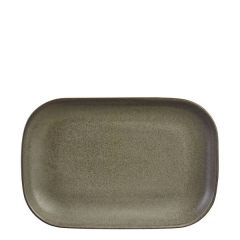"Antigo Terra Stoneware Rectangular Plate 9.5x6.5"" / 24x16.5cm"