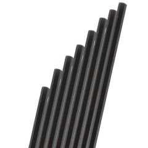 "Black Paper Sip Straw 5.5"" / 14cm"