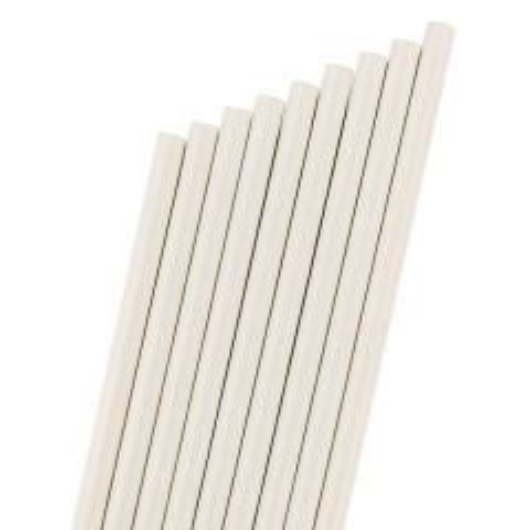 "White Paper Sip Straw 6mm Bore 5.5"" / 14cm"