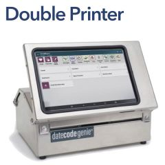 """Date Code Genie Automated Double Label Printer  9.5 x 12 x 14"""""""