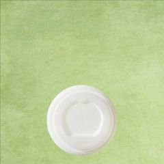 CPLA Compostable White Lid For PLA Lined Hot Cup 4oz / 11cl