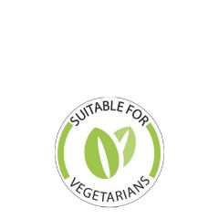 """Suitable for Vegetarians Round Label 1"""" / 25mm"""