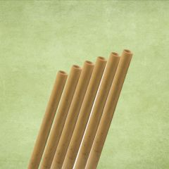 """Natural Reed Bamboo Sip Straw 6-8mm Bore 5.5"""" / 14cm with 2 Brushes"""