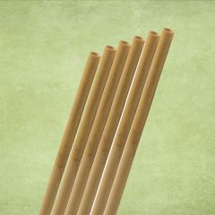 """Natural Reed Bamboo Straw 6-8mm Bore 8"""" / 20cm with 2 Brushes"""