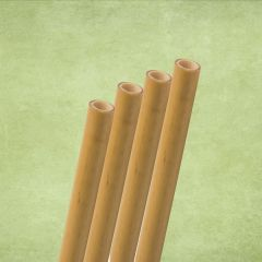 """Natural Reed Bamboo Jumbo Straw 9-11mm Bore 8"""" / 20cm with 2 Brushes"""