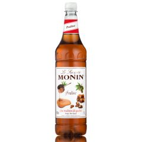 Monin Syrup Praline 1Ltr Plastic Bottle