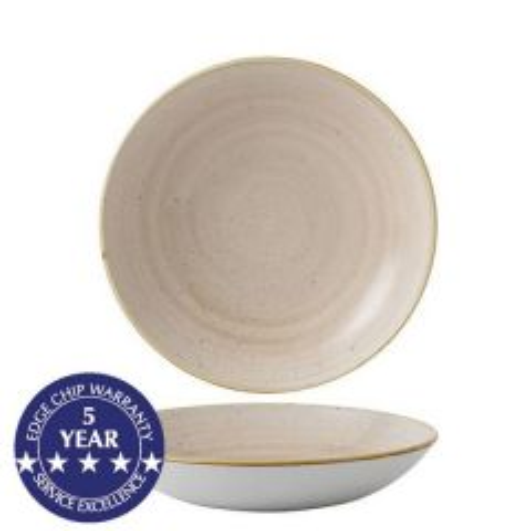 "Churchill Stonecast Nutmeg Cream Coupe Bowl 7.25"" / 18.2cm"