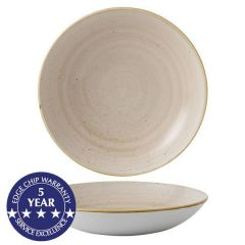 "Churchill Stonecast Nutmeg Cream Coupe Bowl 9.75"" / 24.8cm"