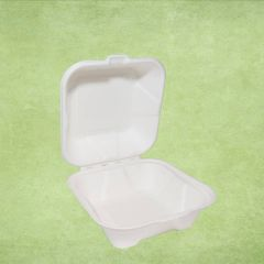 "Bagasse Eco-Friendly Burger Box 5.5x5.5x3"" / 14x14x8cm"