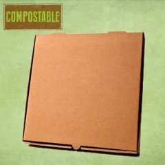 """Compostable Plain Brown Cardboard Pizza Delivery Box 10"""" / 25cm"""
