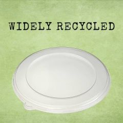 Sabert rPET Clear Lid 21cm Diameter (for 750 & 1000ml BePulp Round Containers)