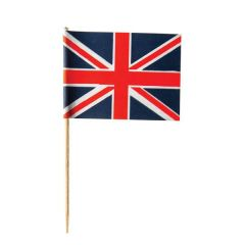 """Disposable Union Jack Flag 3"""" / 8cm"""