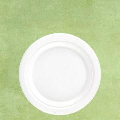 """Bagasse Eco-Friendly Round Plate 7"""" / 18cm"""