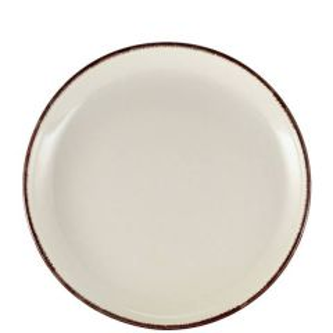 """Sereno Brown Terra Stoneware Coupe Plate 9.25"""" / 24cm"""