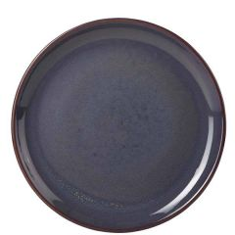 "Blue Terra Stoneware Coupe Plate 10.75"" / 27.5cm"