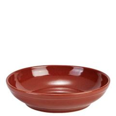 """Red Terra Stoneware Coupe Bowl 10.75"""" / 27.5cm"""