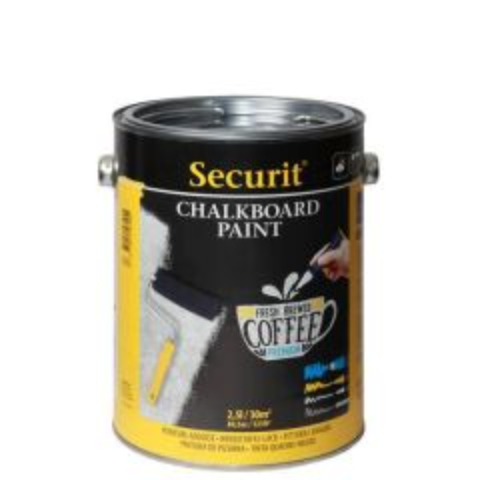 Securit Black Chalkboard Paint 250ml