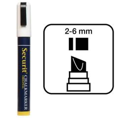 Securit White Water Soluble Chalk Marker 2-6mm Nib