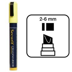 Securit Yellow Water Soluble Chalk Marker 2-6mm Nib