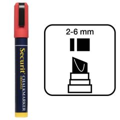 Securit Red Water Soluble Chalk Marker 2-6mm Nib