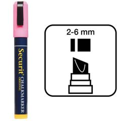 Securit Pink Water Soluble Chalk Marker 2-6mm Nib
