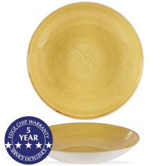 """Churchill Stonecast Mustard Seed Yellow Coupe Bowl 9.75"""" / 24.8cm"""