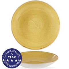 """Churchill Stonecast Mustard Seed Yellow Coupe Bowl 12"""" / 31cm 84.5oz / 240cl"""