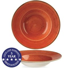 "Churchill Stonecast Spiced Orange Profile Wide Rim Bowl 11"" / 28cm"