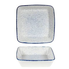 "Churchill Stonecast Hints Indigo Blue Square Baking Dish 10x10x2.5"" / 25x25x6.2cm"