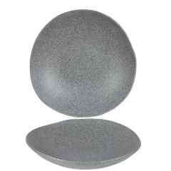 "Alchemy Trace Melamine Granite Grey Speckle Bowl 12.625"" / 32cm"