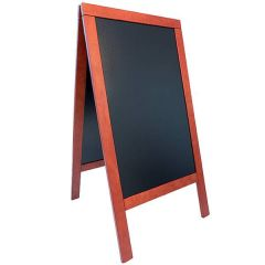 """Securit Deluxe Mahogany Finish Pavement A-Board 27.5x53"""" / 70x135cm"""