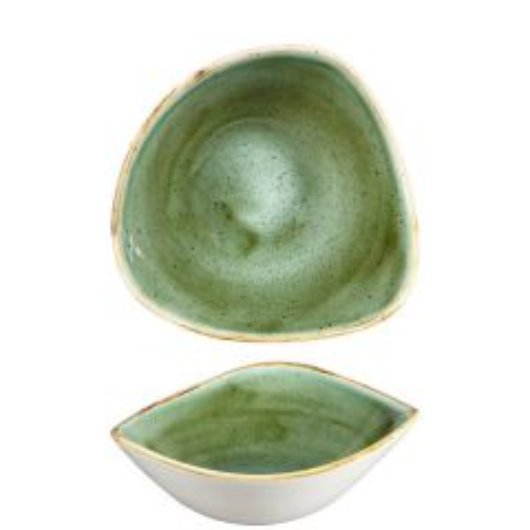 "Churchill Stonecast Samphire Green Triangle Bowl 6"" / 15.3cm"