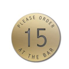 Self Adhesive Please Order at the Bar 38mm Gold Disk (State No's Req)