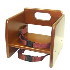 Child Stacking Booster Seat in Walnut Wood