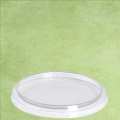 Clear PLA Compostable Deli Container Lid 116mm Diameter