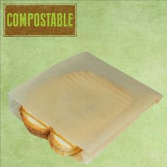 Natural Non-Stick Greaseproof Toastie Contact Grill Bag 17x4x20cm